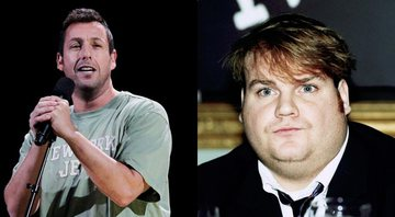 None - Montagem de Adam Sandler e Chris Farley (Foto: AP Photo/Richard Drew)