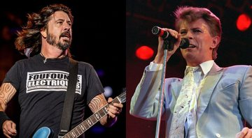 None - Montagem com Dave Grohl, líder do Foo Fighters  (Foto: Renan Olivetti / I Hate Flash) e David Bowie (AP Images)