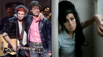 None - Montagem com Rolling Stones (Foto: Getty Images / Scott Gries / Equipe) e Amy Winehouse (AP Photo / Matt Dunham / File)