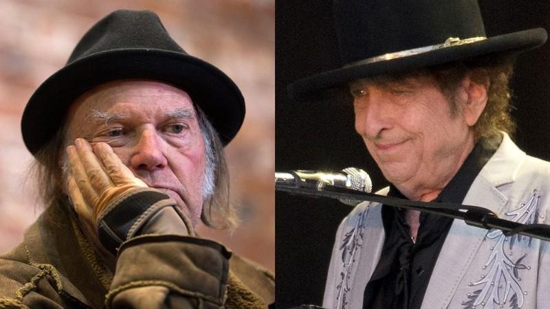 Bob Dylan e Neil Young cantam juntos em show após 25 anos; assista