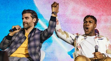 None - Oscar Isaac e John Boyega, no painel e Star Wars na CCXP Foto: Vans Bumbeers / I Hate Flash