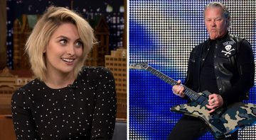 None - Paris Jackson e James Hetfield (Foto 1: Reprodução / YouTube e Foto 2: Sipa via AP Images)