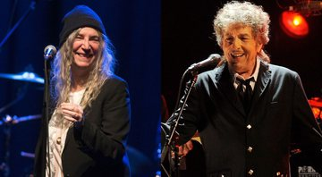 None - Patti Smith (Foto: Owen Sweeney Invision / AP) e Bob Dylan (foto: Chris Pizzello/AP)