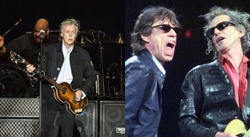 None - Paul McCartney e Rolling Stones (Foto 1: Amy Harris/Invision/AP / Foto 2: Elise Amendola/AP)