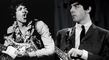 None - Montagem com Jimi Hendrix (Foto: Bruce Fleming / AP) e Paul McCartney (Foto: AP)