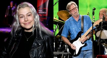 None - Phoebe Bridgers (Foto: Randy Shropshire/Getty Images for PEN America) e Eric Clapton (Foto: Kevin Winter/Getty Images)