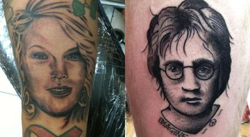 None - Tattoos de fã de Taylor Swift e John Lennon (foto: reprod/ twitter - instagram)