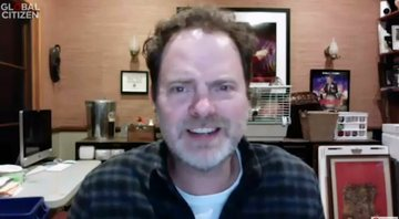 None - Rainn Wilson em One World: Together at Home (Foto: Reprodução)
