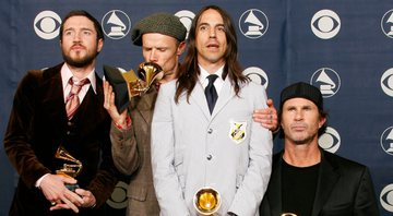 None - John Frusciante, Flea, Anthony Kiedis e Chad Smith, do Red Hot Chili Peppers (Foto: Kevork Djansezian via AP Images)