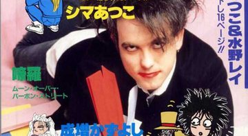 None - Robert Smith, vocalista do The Cure, na capa da revista japonesa 8 Beat Gag (Foto:Reprodução)