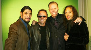 None - Robert Trujillo, Lars Ulrich, James Hetfield e Kirk Hammett (Foto: Kevin Winter / Getty Images)