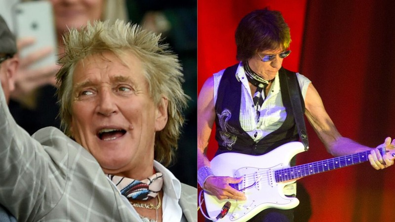 Rod Stewart e Jeff Beck tocam juntos pela primeira vez em 10 anos; assista
