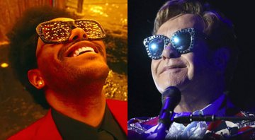 None - The Weeknd (Foto: Reprodução) e Elton John (Foto: Matt Sayles/Invision for Black Ink/AP Images)