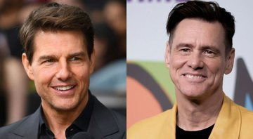 None - Tom Cruise e Jim Carrey (Foto 1: Richard Shotwell/Invision/AP | Foto 2: AFP/Arquivos)