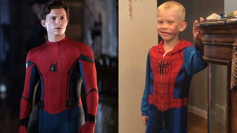 Homem-Aranha: Menino que salvou a irmã de ataque de cachorro é convidado para o set