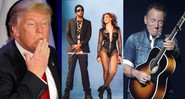 None - Montagem com Donald Trump (Foto: AP Photo/Jae C. Hong), Beyoncé e Jay-Z (Robin Harper/Parkwood Entertainment/AP Images) e Bruce Springsteen (Brad Barket/Invision/AP)