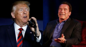 None - Montagem com Donald Trump (Foto: AP Photo/Carolyn Kaster) e Arnold Schwarzenegger (Press Association via AP Images)