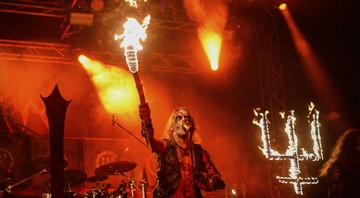 None - A banda sueca Watain (Foto:Sipa/AP Images)