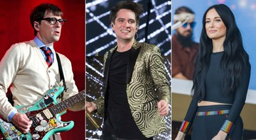 None - Weezer, Panic! At the Disco e Kacey Musgraves (Foto: Larry Marano/Shutterstock, Owen Sweeney/Invision/AP/Shutterstock, Greg Chow/Shutterstock)