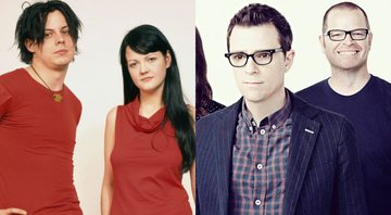 None - White Stripes e Weezer (Foto 1: Reprodução/Facebook/ Foto 2: Tim Roney /Getty Images)