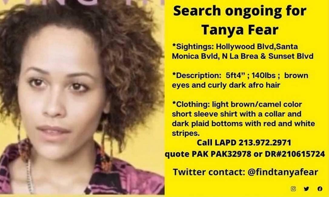 Cartaz Tanya Fear (Foto Reprodução Twitter)
