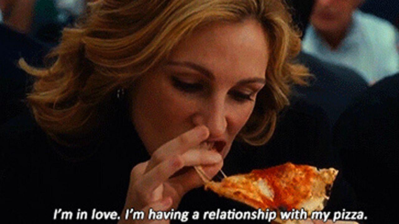 comer rezar amar pizza reproducao
