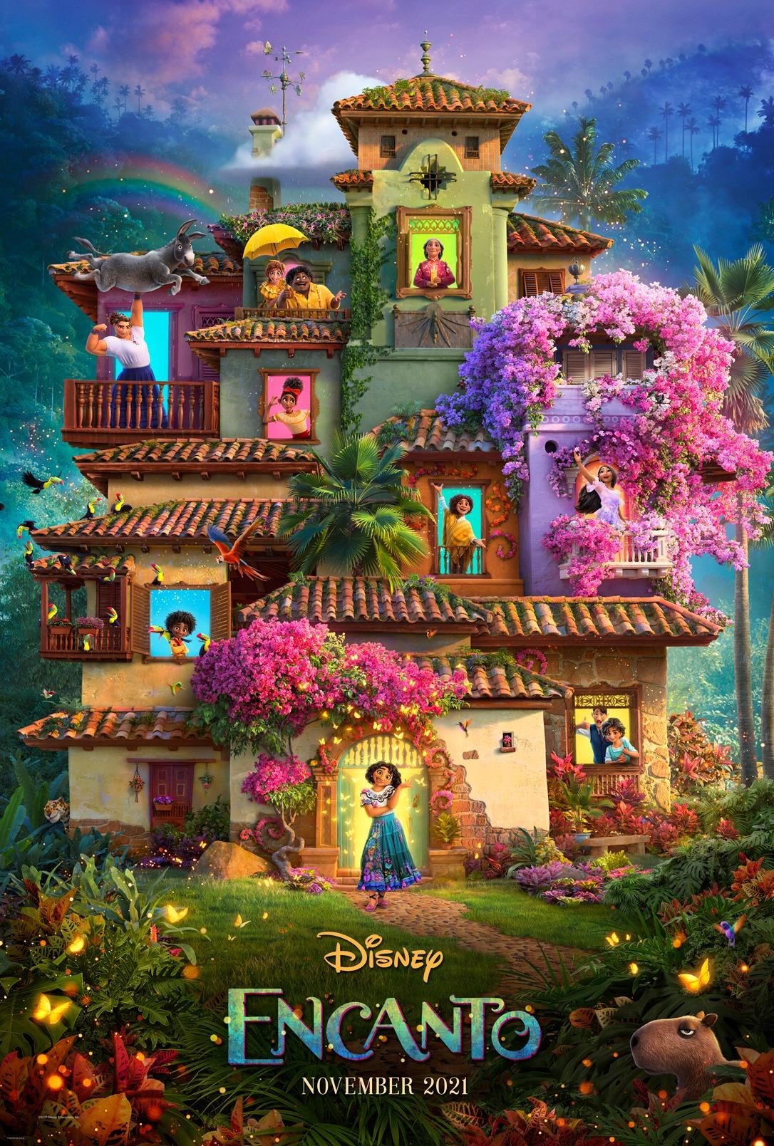 pôster de encanto, animação da pixar