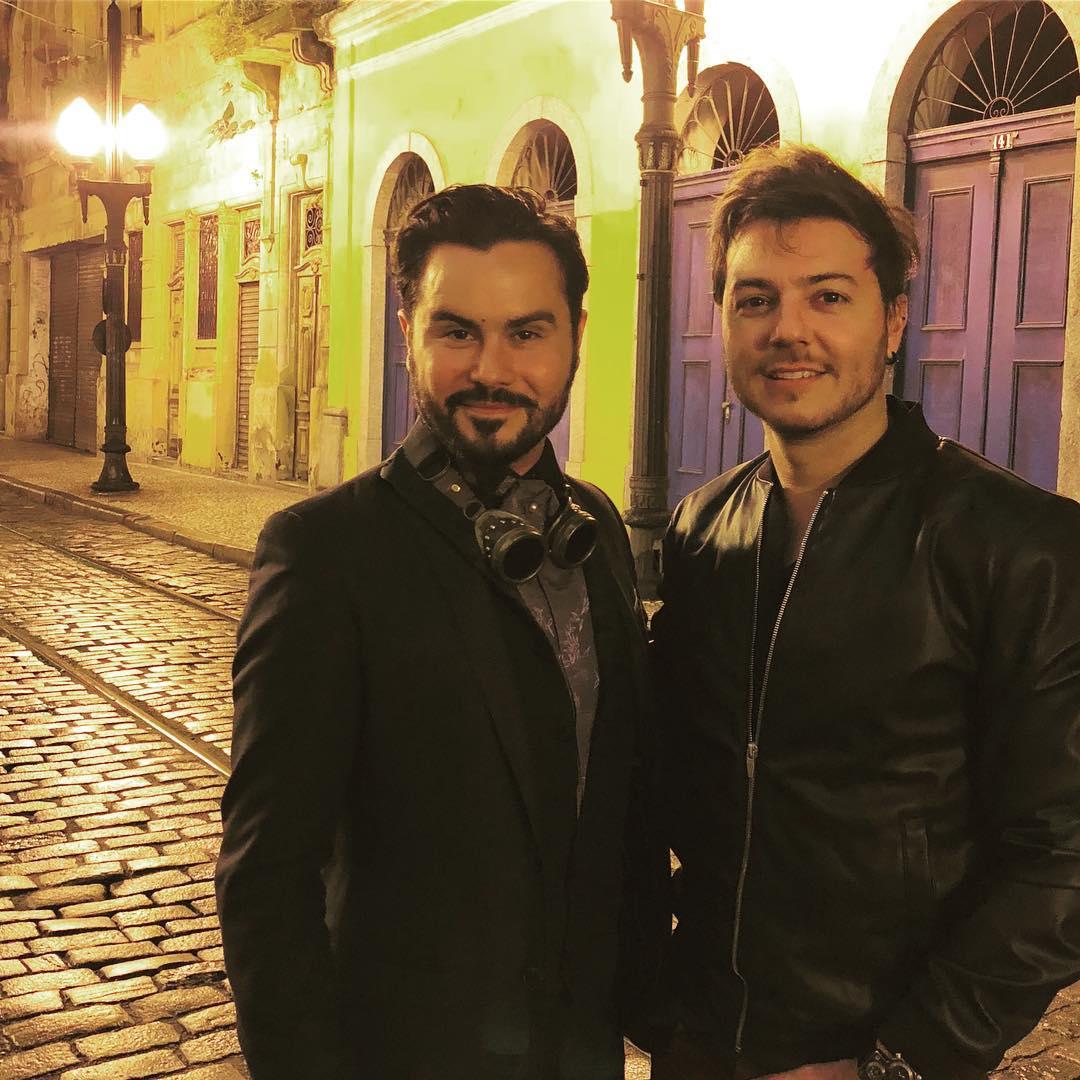 Enéias Tavares e Felipe Reis (Foto: Arquivo pessoal/Felipe Reis)