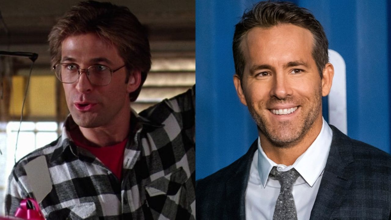 Montagem com Alec Baldwin (Foto: Reprodução) e Ryan Reynolds (Foto: Charles Sykes / AP Images)