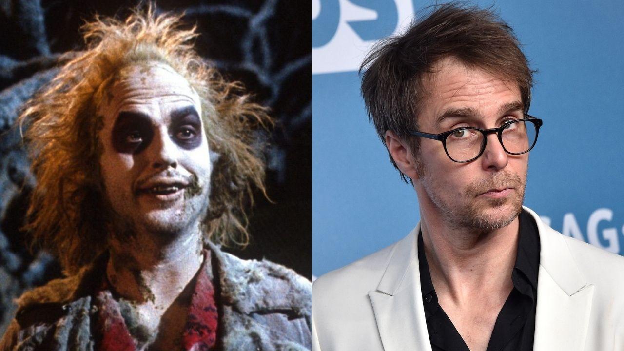 Montagem com Michael Keaton (Foto: Reprodução) e Sam Rockwell (Foto: Gregg DeGuire / Getty Images)