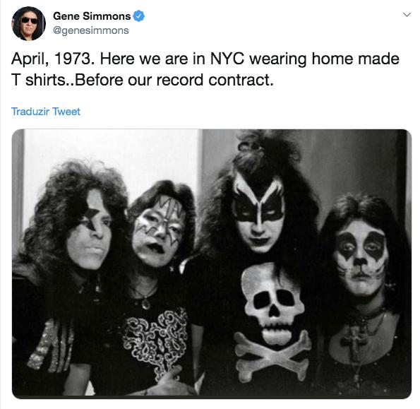 foto rara Kiss reproducao twitter
