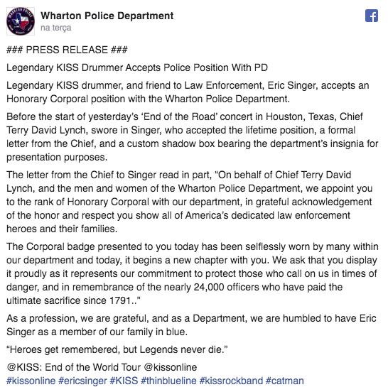 post departamento de polícia