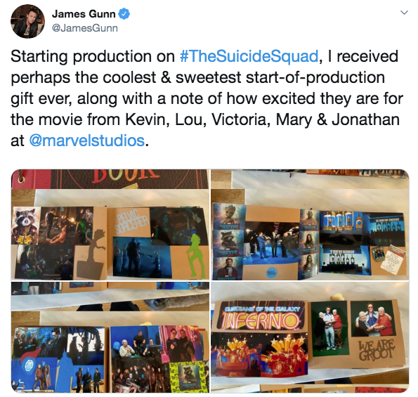 Tuíte James Gunn